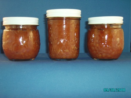 3 1/2 pints of Apple butter