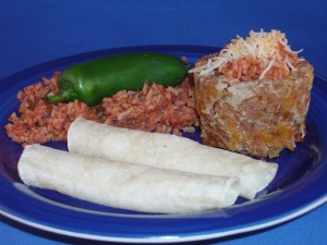 Nacho Meatloaf with Spanish Rice recipe