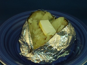 baked potato in the solar oven