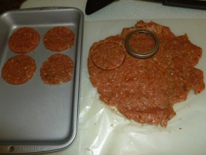 Homemade Spicy Country Sausage rolled out and cut.