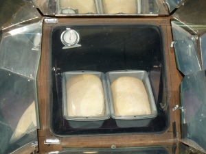 Bread baking in the GSO solar oven