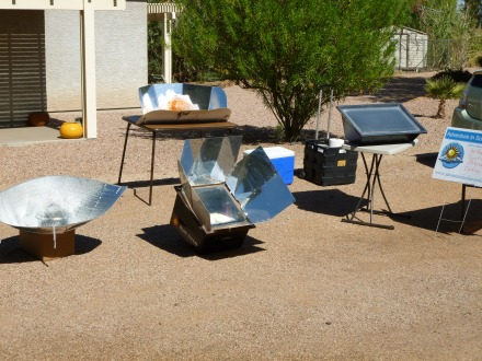 Solar cooking demonstration October 23, 2011
