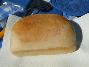 Fresh hot bread baked in a GSO solar oven