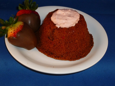 Solar Oven Strawberry Cake with Strawberry filling