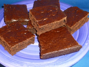 These brownies were baked in a solar oven.