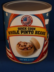 Pre-cooked whole pinto beans,
