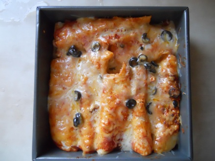 chicken enchiladas solar cooking