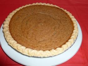 Pumpkin pie baked in the solar oven