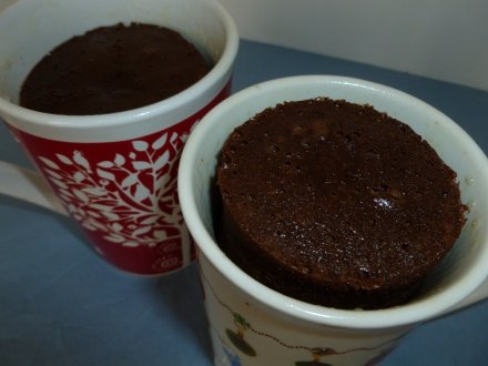 Solar oven chocolate cake in a mug