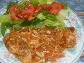 Southwestern Salsa Chicken and salad