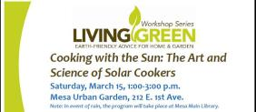 Living Green: Cooking with the Sun